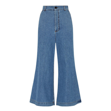 High-Waisted Flared Jeans, ${color}