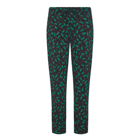 Printed Pyjama-Style Trousers, ${color}