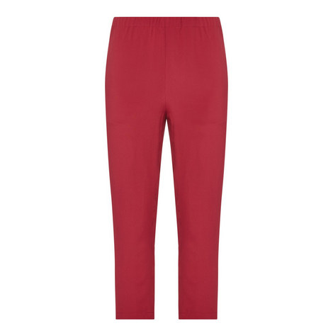 Cropped Crêpe Trousers, ${color}
