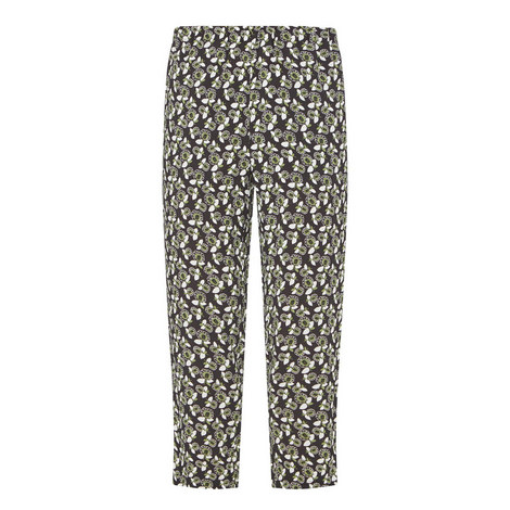 Floral Print Trousers, ${color}