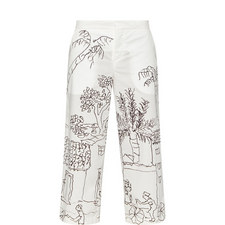 Tiger Print Poplin Trousers