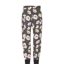 Cuffed Patterned Trousers