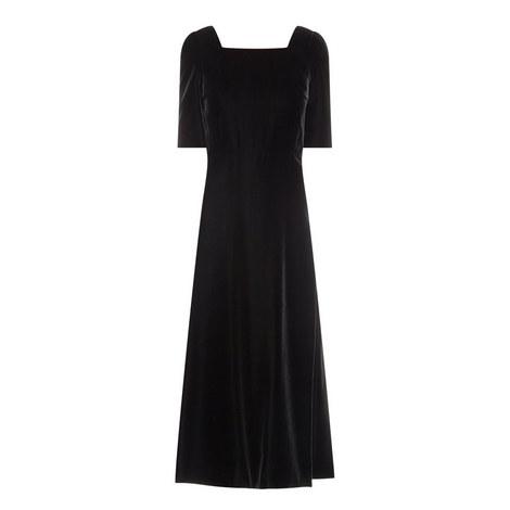 Square Neck Velvet Dress, ${color}