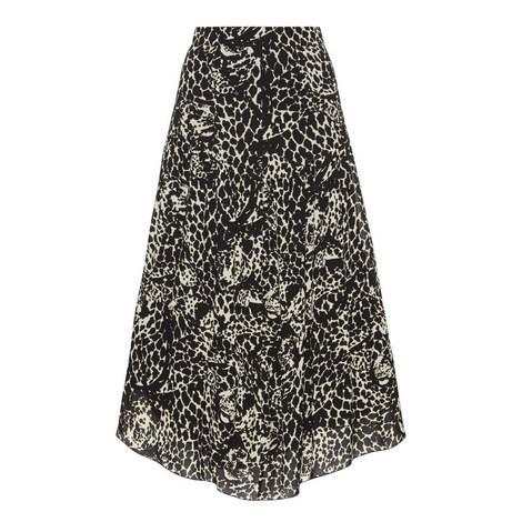 Print Crepe Midi Skirt, ${color}