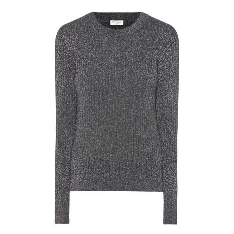 Long Sleeve Lurex Sweater, ${color}