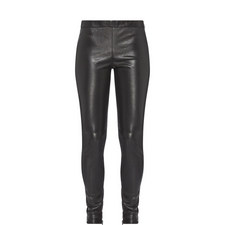 Skinny Fit Leather Trousers