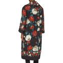 Long Floral Print Coat, ${color}