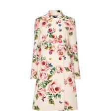 Rose Print Coat