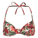 Rose Print Bikini Top, ${color}