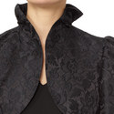 Jacquard Frilled Cuff Jacket, ${color}