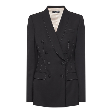 Double Breasted Crepe Blazer, ${color}