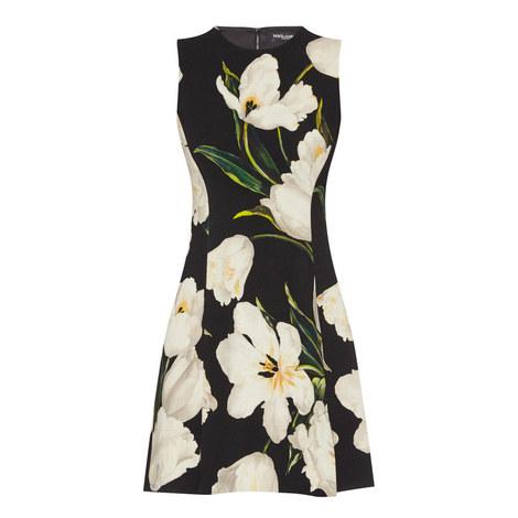Sleeveless Tulip Print Dress, ${color}
