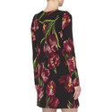 Long Sleeve Tulip Print Dress, ${color}