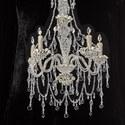 Chandelier-Embellished Velvet Dress, ${color}