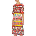 Patterned Midi Dress, ${color}
