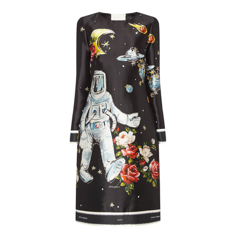 Astronaut Long Sleeve Dress, ${color}