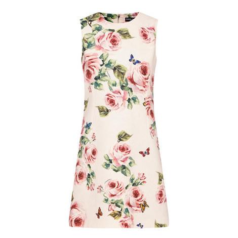 Rose Print Shift Dress, ${color}