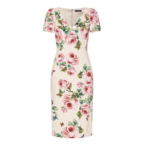 Rose Cap Sleeve Dress , ${color}