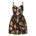 Floral Jacquard Bustier Dress, ${color}