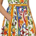 Maiolica Print Dress, ${color}