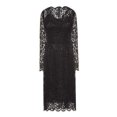 V-Neck Lace Dress, ${color}