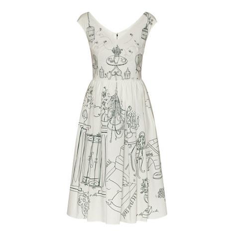 Patterned Midi Dress, ${color}