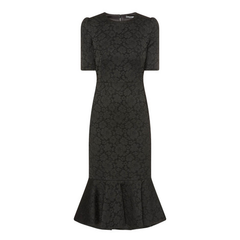 Fitted Jacquard Dress, ${color}
