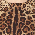 Silk Leopard Print Dress, ${color}