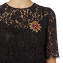 Adorned Lace Top, ${color}