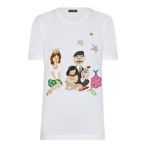 Appliqué Crew Neck T-Shirt, ${color}