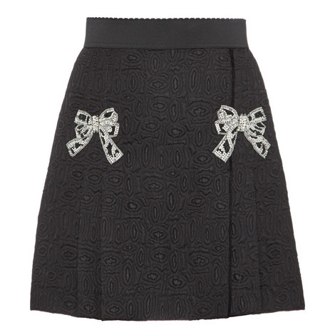 Jacquard Bow Front Skirt, ${color}
