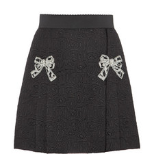Jacquard Bow Front Skirt