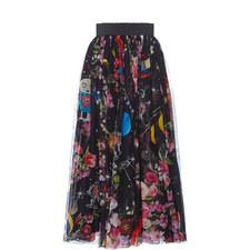 Contemporary Print Chiffon Skirt