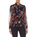 Planet and Floral Print Blouse, ${color}