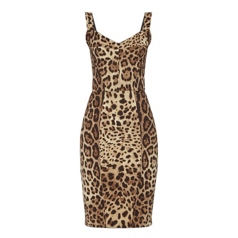 Leopard Print Sleeveless Dress , ${color}