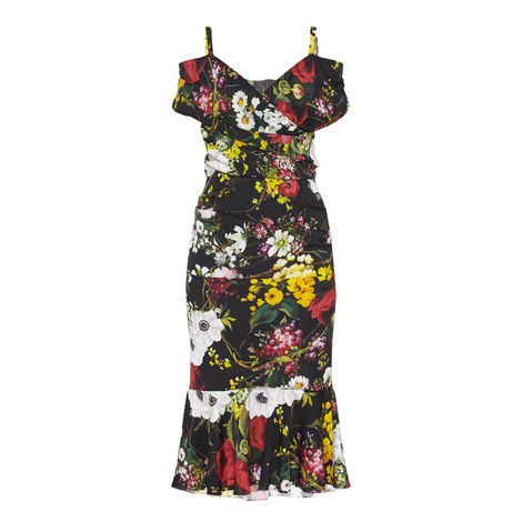 Floral Ruched Dress, ${color}