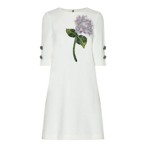 Hydrangea Appliqué Shift Dress, ${color}