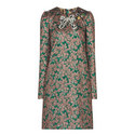 Bow Brocade Dress, ${color}