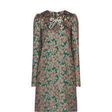 Bow Brocade Dress