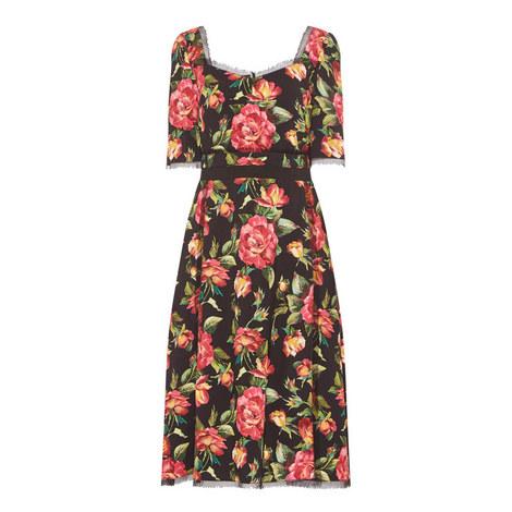 Square Neckline Floral Dress, ${color}