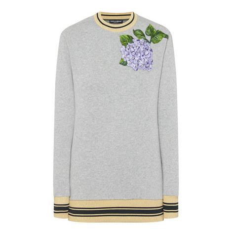 Hydrangea Flower Motif Sweater, ${color}