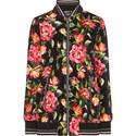 Floral Velvet Bomber Jacket, ${color}