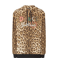 Relaxed Leopard Print Hoodie