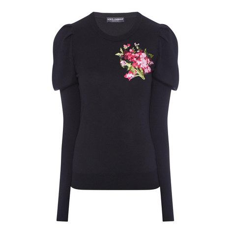 Floral Embroidered Sweater, ${color}