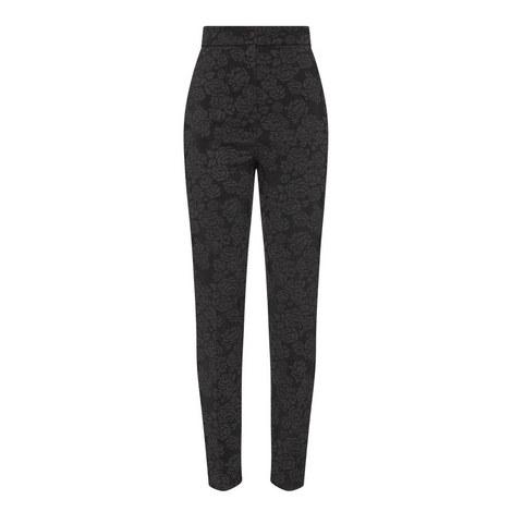 Jacquard Stretch Trousers, ${color}