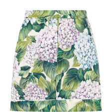 Hydrangea Cuffed Shorts
