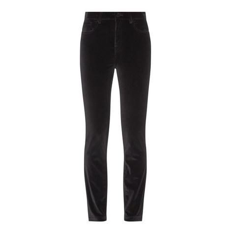 Velvet Slim Trousers, ${color}