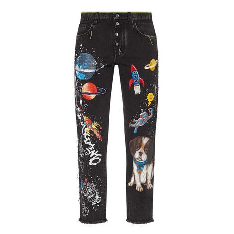 Dog Rocket Embellished Jeans, ${color}