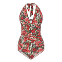 Rose Print Swimsuit, ${color}