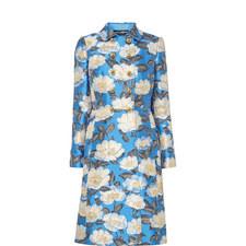 Floral Jacquard Coat